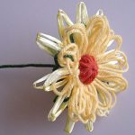 Stemmed Loom Flower with Calyx