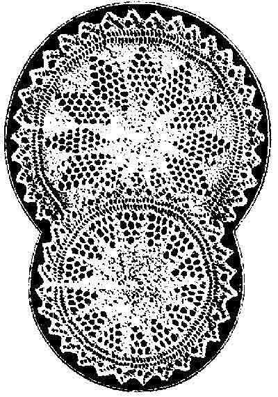 Vintage doily knit flat on two needles