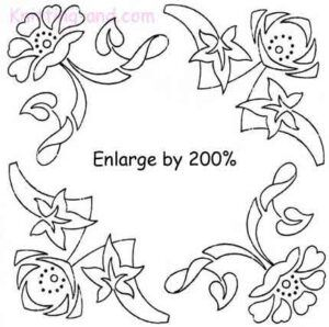 Art deco floral embroidery design