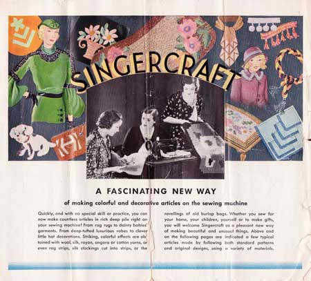 Singercraft guide instruction booklet