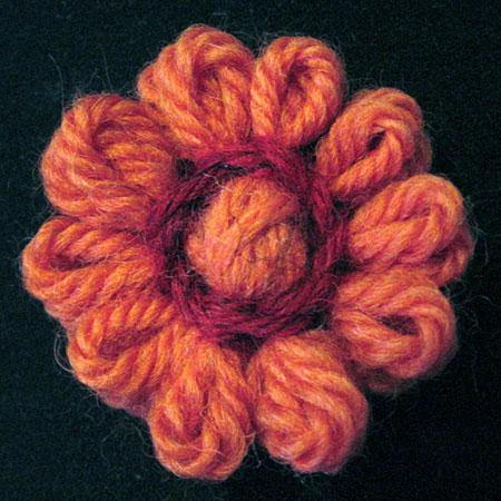 Loomed flower