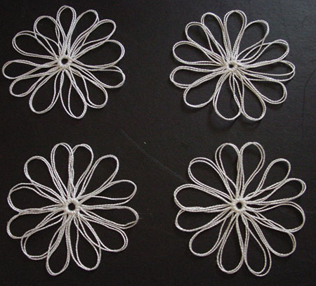 Thread flowers