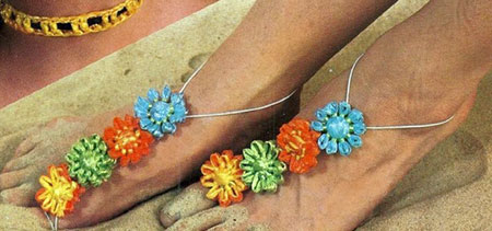 Loomed barefoot sandals