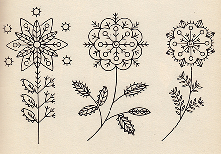Floral designs from Learn to Embroider, c1940