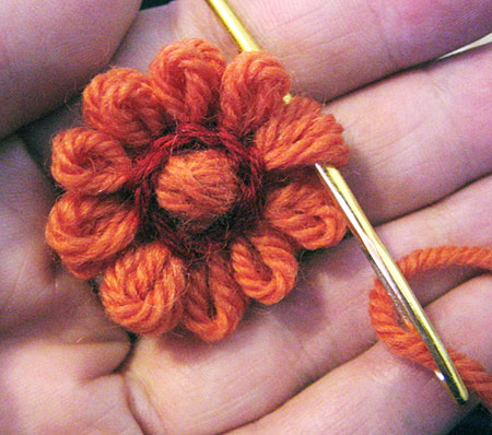 Creating a loomed flower bud