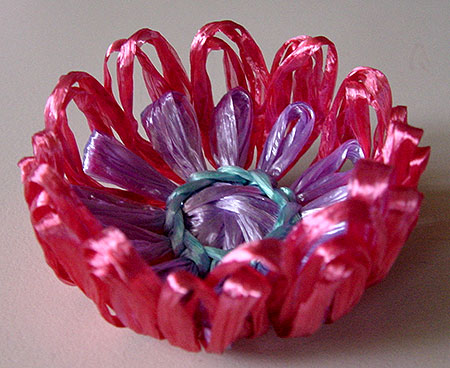Finished flower when dry