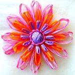 Varnishing Loomed Flowers