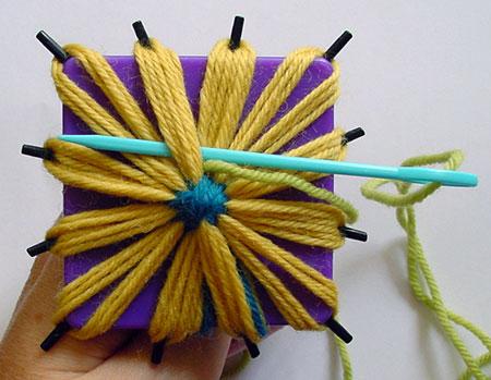 Starting the first stitch