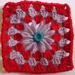 Granny Square Edging for Round Motifs