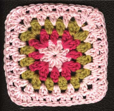 Crocheted granny square from 1891