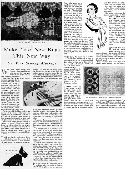 Singercraft Advertorial, Needlecraft Magazine, October 1932