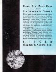 Singercraft Guide Advertisement on the Back of the Singercraft Fagoter Manual 1933
