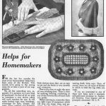 Helps for Homemakers column from Successful Farming, January 1933