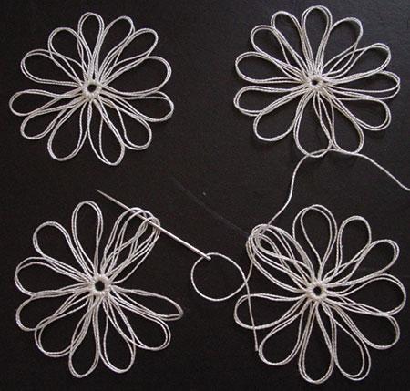 The second set of three petals