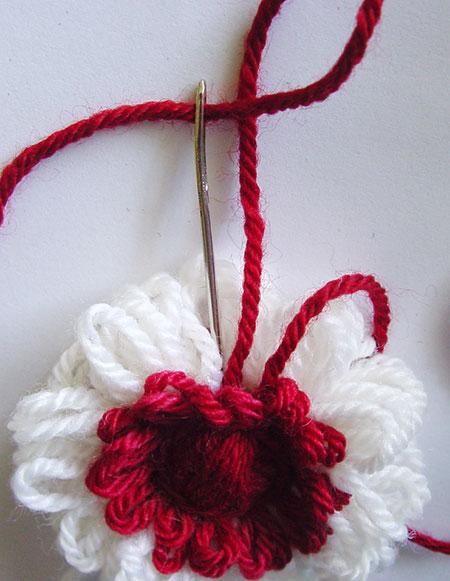 Finishing the stitching on the back