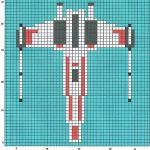 Star Wars X-Wing Knitting Chart