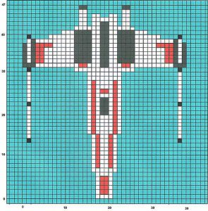 Star Wars X-Wing Knitting Chart
