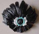 Eye Fridge Magnets made from Loomed Flowers