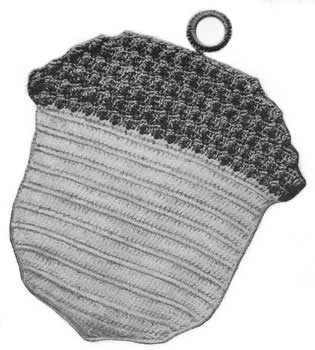 Acorn shaped potholder
