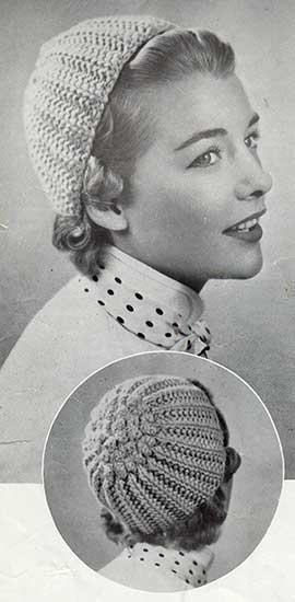 The acorn cap. A ribbed skull cap with bobbled top.