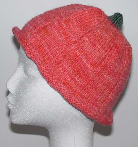 Novelty knit pumpkin hat