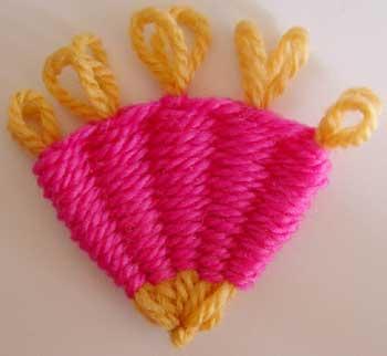 Fan made on a flower loom
