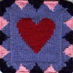 Oddball Sampler Afghan Square #18: All My Love