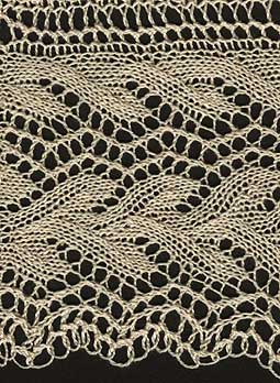 Knitted leaf lace edging