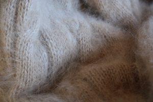 Angora knitting