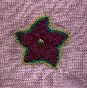 Applique Star Afghan Square