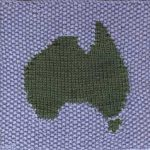 Oddball Sampler Afghan Square #30: Aussie Map