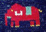Duplicate St Elephant Knitting Chart
