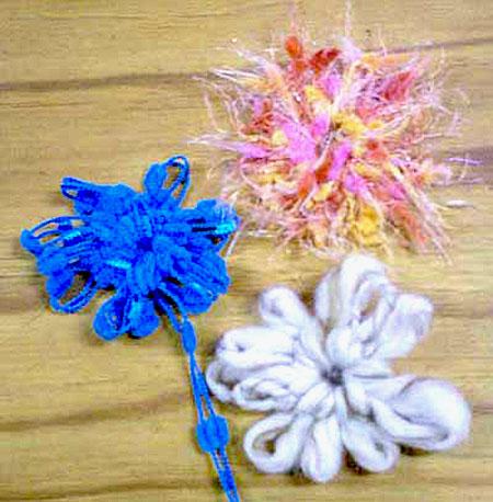 Failed yarn flowers