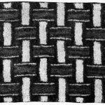 Basketweave Rug. Rug Hooking Design, 1932
