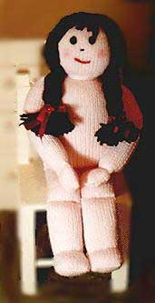 Bliss's Dolly: hand knit doll with free pattern