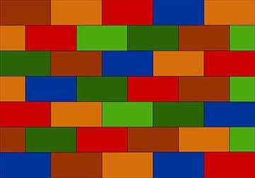 Brick pattern Singercraft rug design