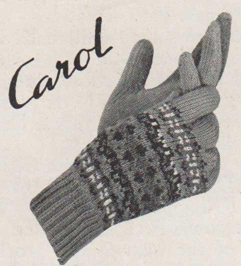 Carol fairisle gloves knit on two needles