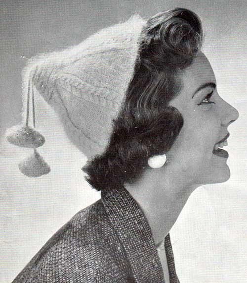 Cedar, vintage cabled skull cap