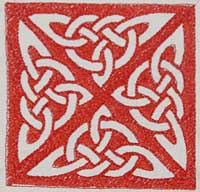 Celtic knot machine embroidery design