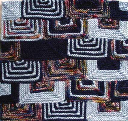 Modular knit afghan square