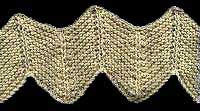 Garter St Chevron With Purl Ridges
