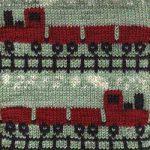 Oddball Sampler Afghan Square #38: Choo-Choo
