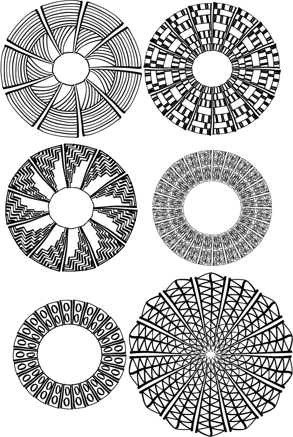 Circles drawn in Adobe Illustrator