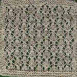 Cables and Lace Afghan: Square #4 by Marilyn Muller