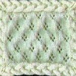 Cables and Lace Afghan: Square #5 by Renee Ladd