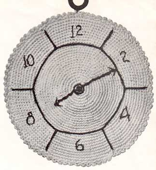 Clock potholder