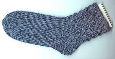 Cloverleaf Eyelet Socks
