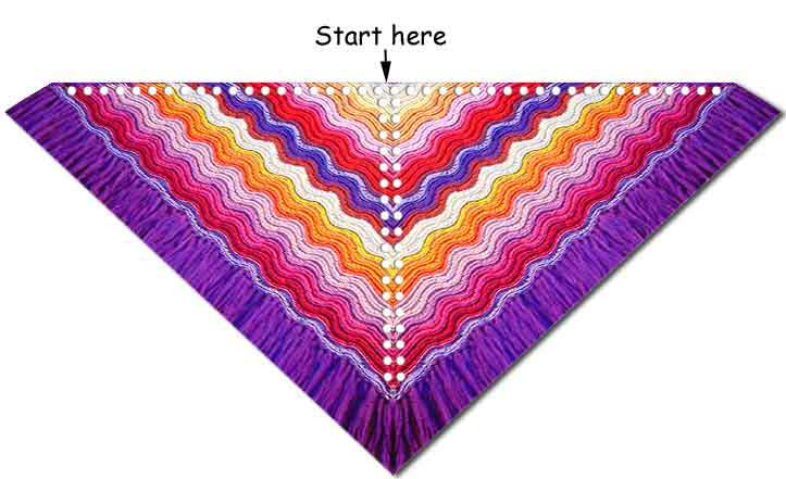 The Feather And Fan Comfort Shawl Knitting And