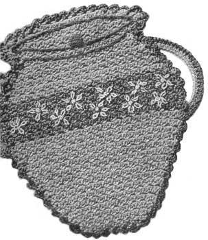 Potholder in the shape of a vintage cookie jar