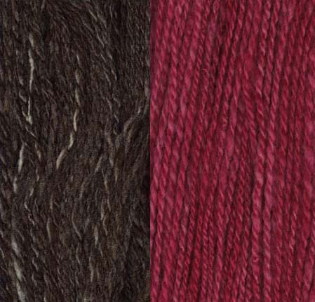 Finised yarn compared to the original